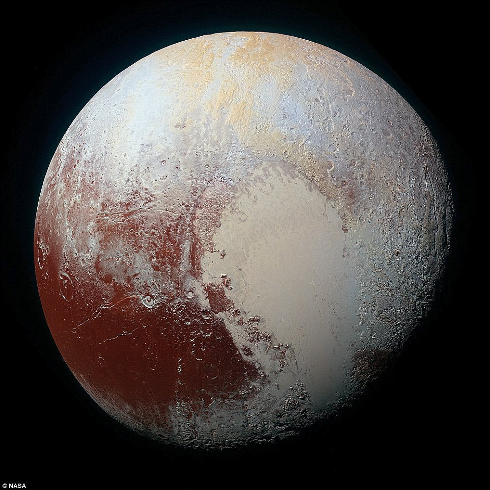 Red Ice on Pluto